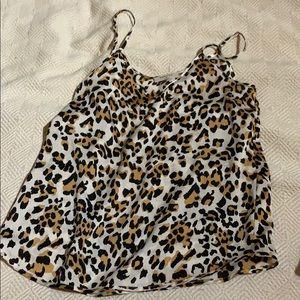 Aritzia Babaton leopard tank size xs